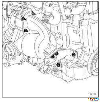 Renault Clio. Catalytic converter: Removal - Refitting
