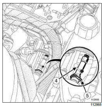 Renault Clio. Clutch circuit: Removal - Refitting