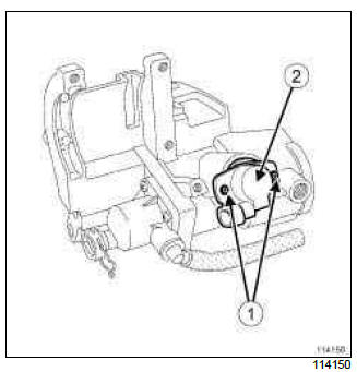 Renault Clio. Clutch position sensor: Removal - Refitting