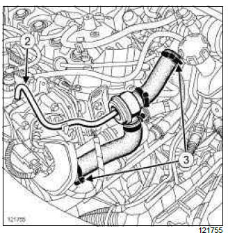 Renault Clio. Crankshaft position sensor: Removal - Refitting
