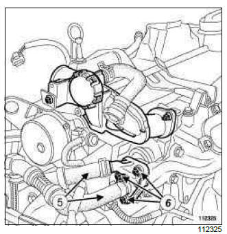 Renault Clio. Exhaust gas recirculation unit: Removal - Refitting