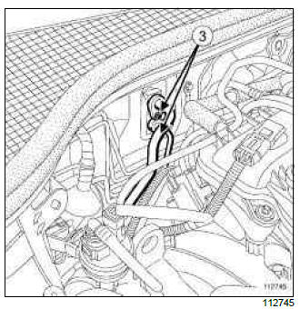 Renault Clio. Hydraulic unit - front right-hand calliper brake pipe: Removal - Refitting