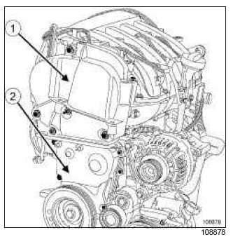 Renault Clio. Timing belt: Removal - Refitting