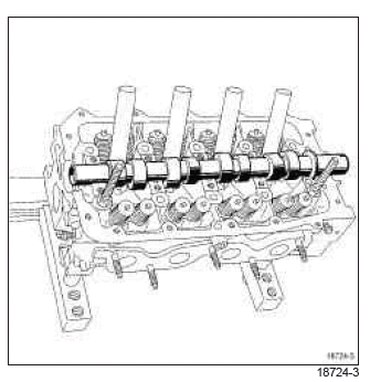 Renault Clio. Camshaft: Removal - Refitting