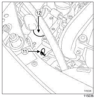 Renault Clio. Accessories belt: Removal - Refitting