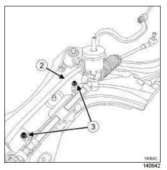Renault Clio. Steering box: Removal - Refitting