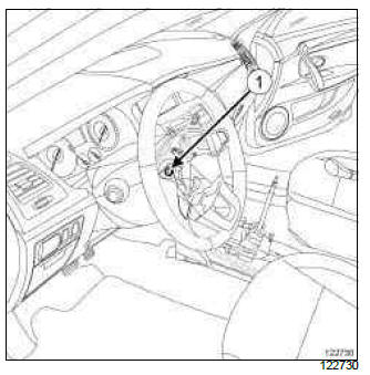 Renault Clio. Steering wheel: Removal - Refitting
