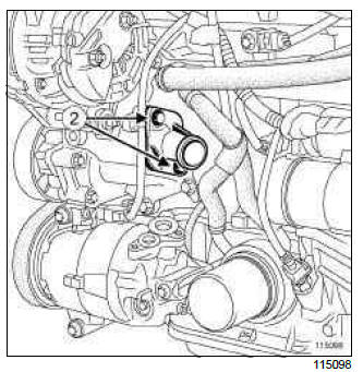 Renault Clio. Thermostat: Removal - Refitting