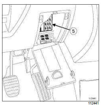 Renault Clio. Tyre pressure monitor: List and location of components