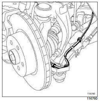 Renault Clio. Wheel speed sensor: Removal - Refitting