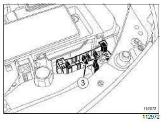 Renault Clio. Wiping and washing: List and location of components